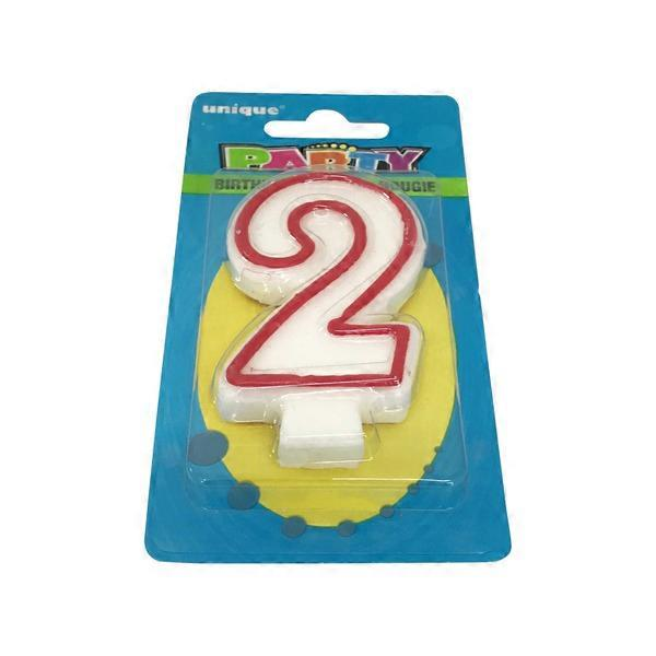 Unique Industries 2 Deluxe Birthday Candle