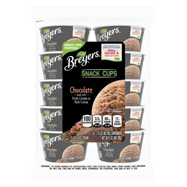 Breyers Ice Cream Chocolate Snack Cups (3 oz) from