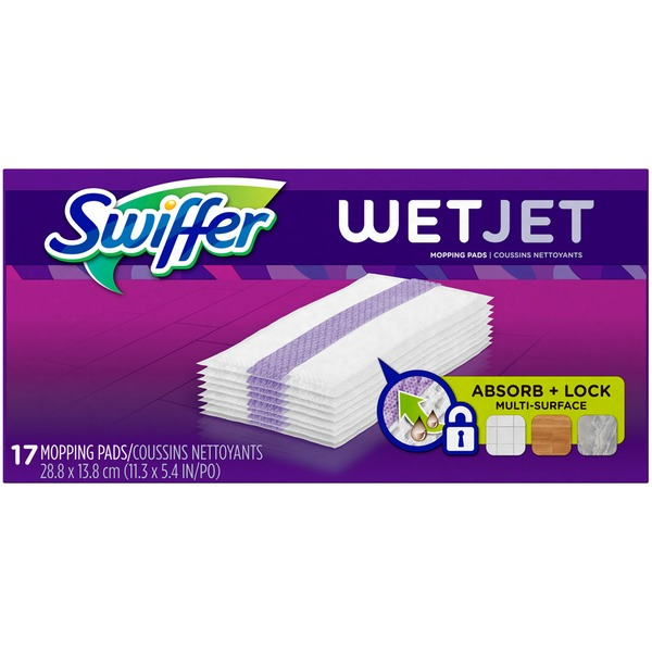 Swiffer Wetjet Hardwood Floor Cleaner Spray Mop Pad Refill Multi
