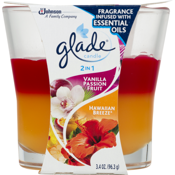 Glade Candle 2 in 1 Vanilla Passion Fruit//Hawaiian Breeze
