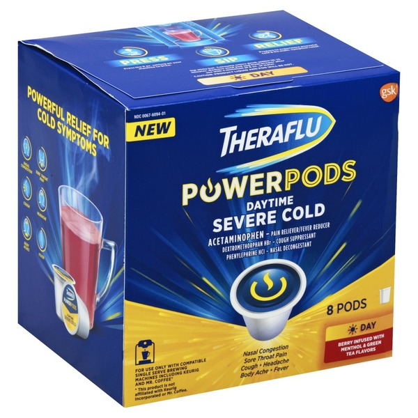 Theraflu Powerpods Daytime Severe Cold Berry Infused With