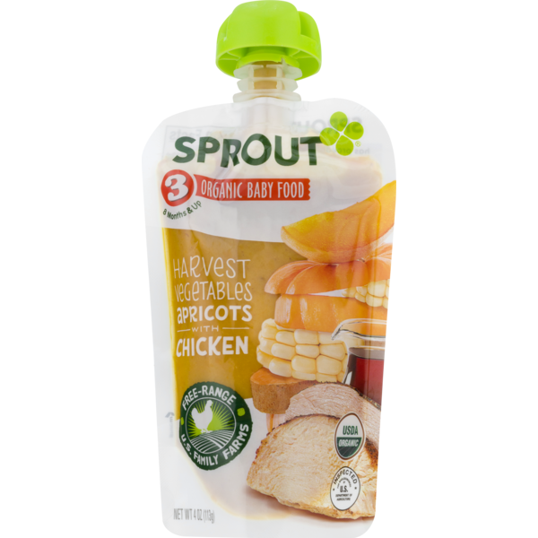 Sprout Organic Baby Food Harvest Vegetables Apricots With Chicken