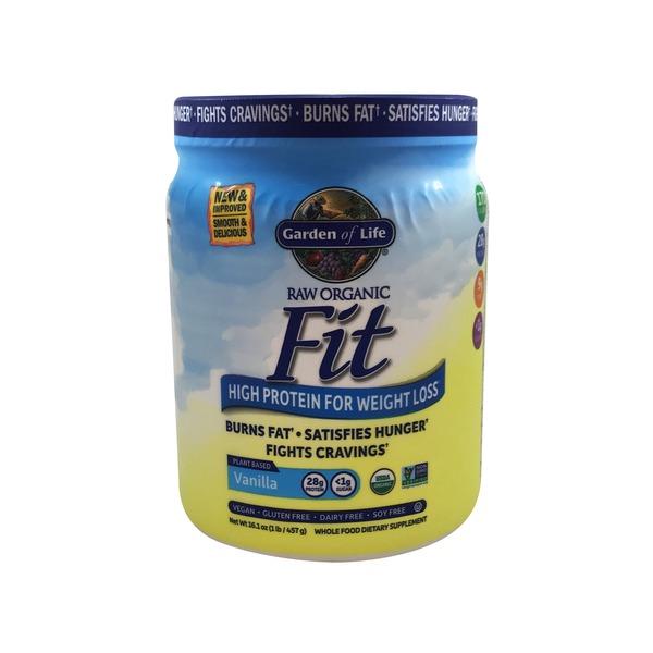 garden of life organic vanilla raw fit protein for weight loss - Garden Of Life Raw Fit