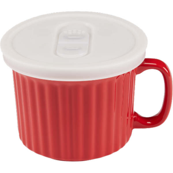 Dash Of That Ceramic Soup Mug With Red Lid (18 oz) from Kroger ...