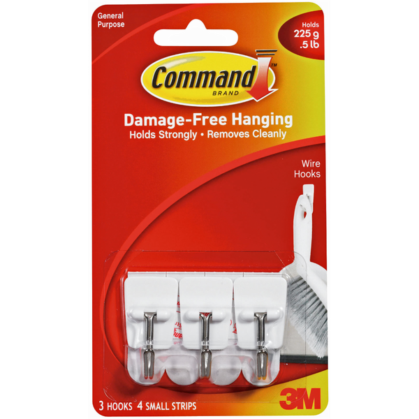 3m Command Damage Free Hanging Wire Hooks 3 Ct From Schnucks