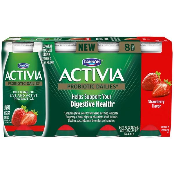 Activia Strawberry Yogurt Drink Dannon Activia Probiotic Dailies Strawberry Lowfat Yogurt Drink
