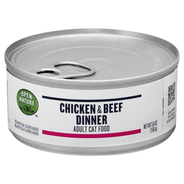 Open Nature Cat Food, Chicken & Beef Dinner, Adult (5 5 oz