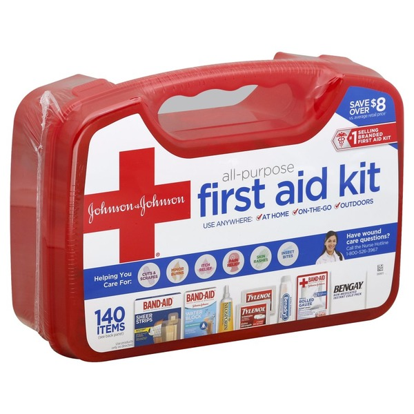 Johnson & Johnson All-Purpose First Aid Kit from CVS