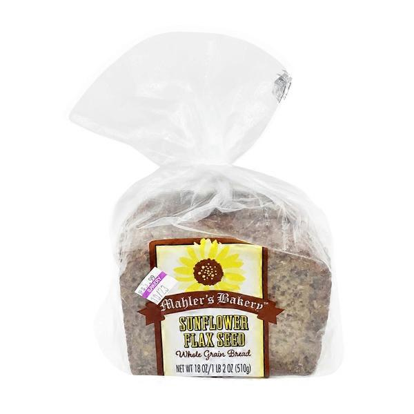 Mahler's Bakery Sunflower Flax Seed Whole Grain Bread (18 oz) from