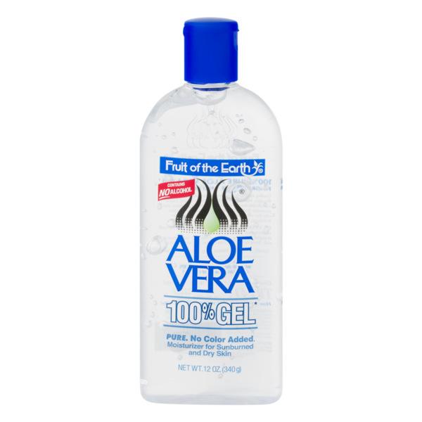 Just Fruit Of The Earth Aloe Vera 340g 100% Gel No Colour Added No Alcohol Sunburns After Sun Skin Care