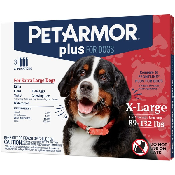 PetArmor Plus For Dogs 89-132 lbs - 3 CT (0 273 fl oz) from PetcoNow