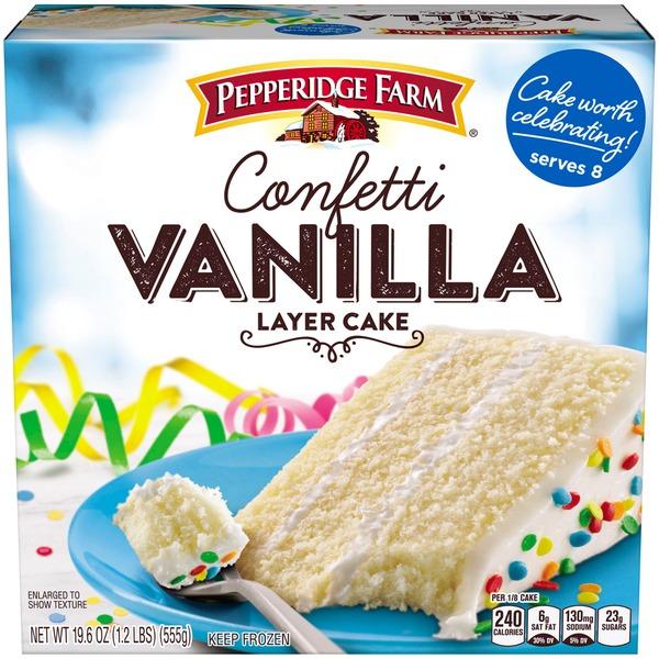 Pepperidge Farm Frozen Bakery Confetti Vanilla Layer Cake From