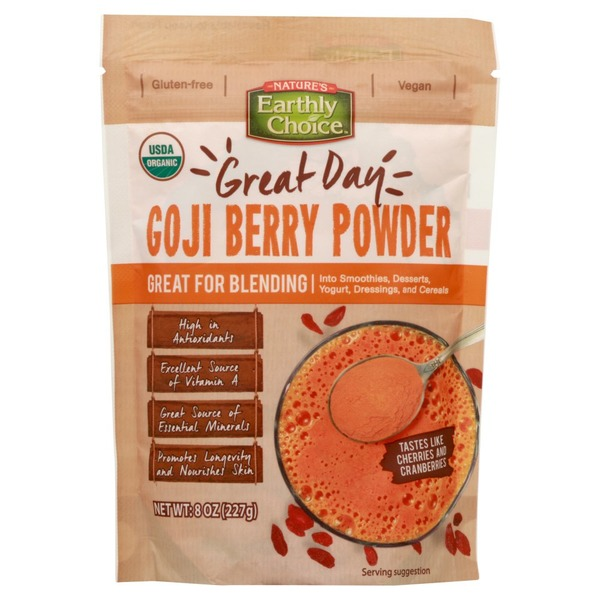 Nature S Earthly Choice Goji Berry Powder Great Day 8 Oz From