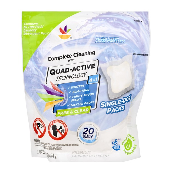 Ahold Quad-Active Technology 4 In 1 Laundry Detergent Free
