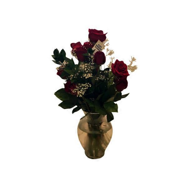 Dozen Roses In Vase Arrangement Each From Stater Bros Instacart