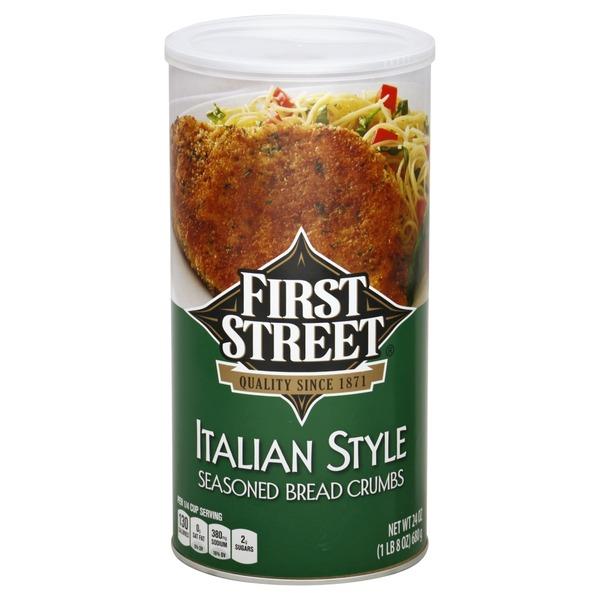 First Street Italian Style Seasoned Bread Crumbs (24 oz) from Smart