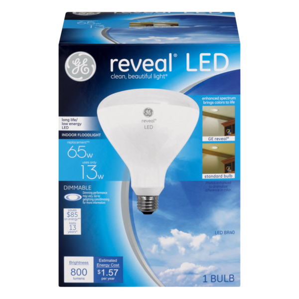 General Electric Reveal LED Dimmable Light Bulb 65W