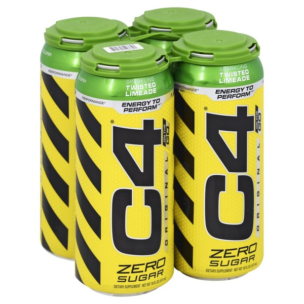 C4 On The Go >> C4 Sparkling Zero Sugar Twisted Limeade On The Go 16