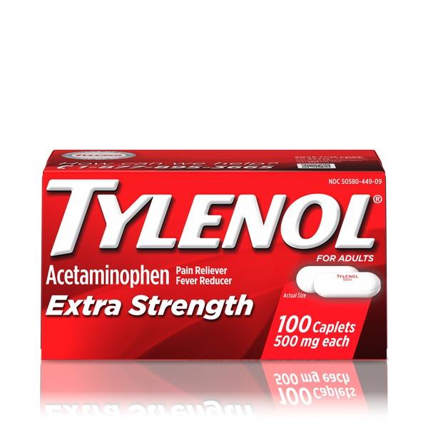 Tylenol Extra Strength Caplets, 500 Mg