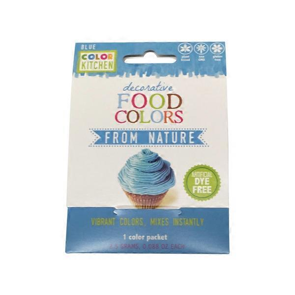 color kitchen natural food color packets bright blue - Color Packets