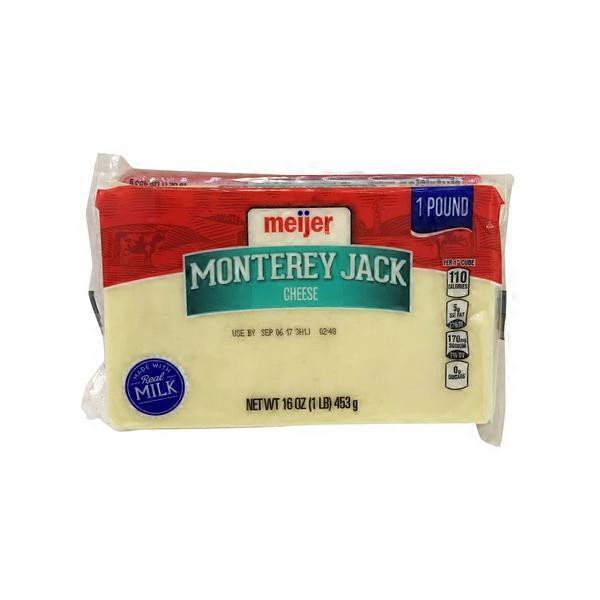 Meijer Monterey Jack Cheese (16 oz) from Meijer - Instacart