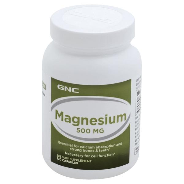 Gnc Magnesium 500 Mg Capsules 120 Each Instacart
