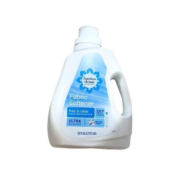 Signature Home Fabric Softener, Free & Clear (103 oz) from