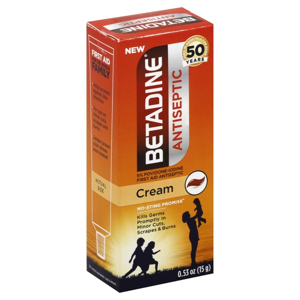 Betadine Cream, Antiseptic (0 53 oz) from Safeway - Instacart