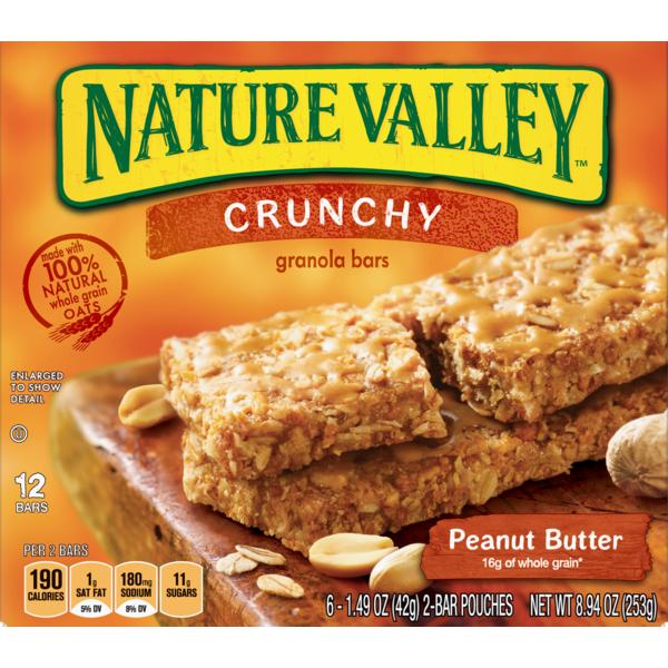 Nature Valley Granola Bars, Crunchy, Peanut Butter (1 49 oz