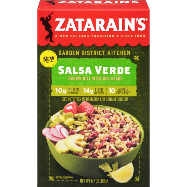 Zatarain S Garden District Kitchen Salsa Verde Brown Rice