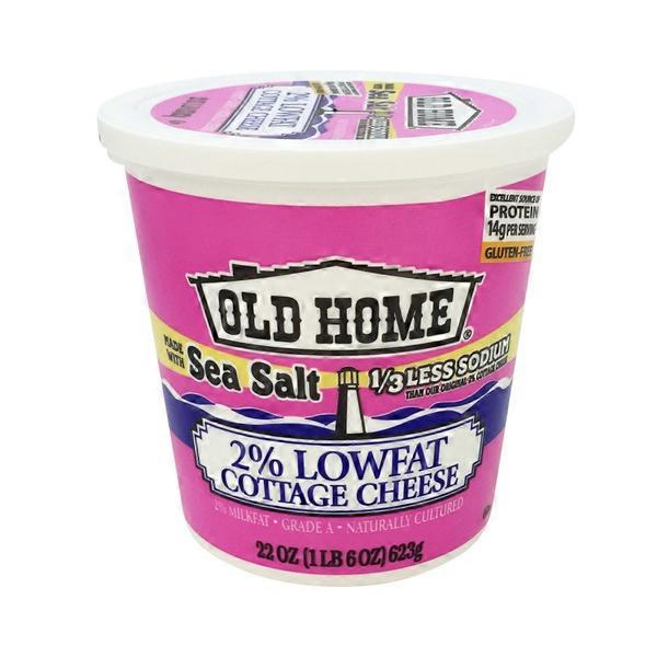 High Quality Old Home Sea Salt 2% Low Fat Cottage Cheese