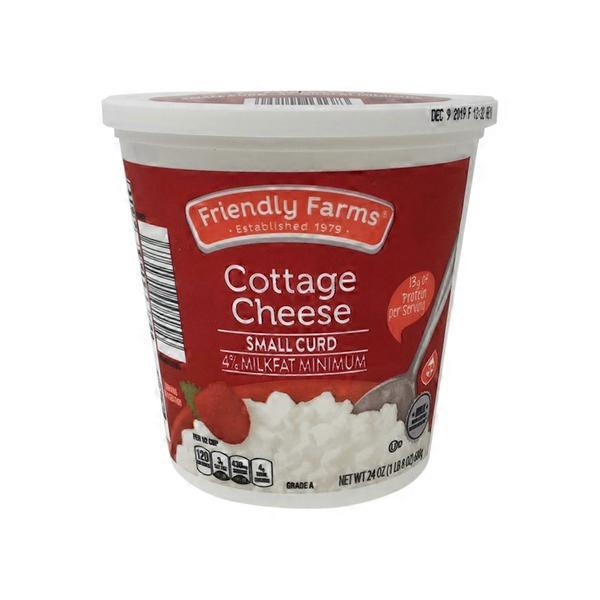 Friendly Farms Small Curd Cottage Cheese 24 Oz Instacart