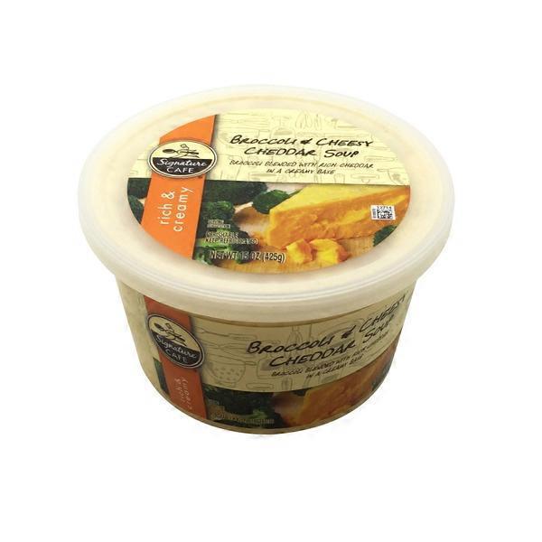 Vons. Signature Cafe Rich & Creamy Broccoli Cheddar Soup