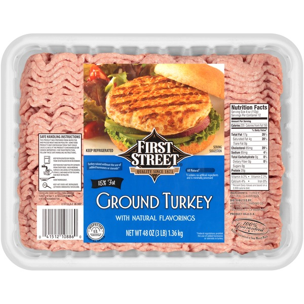 First Street Ground Turkey (48 oz) from Smart & Final