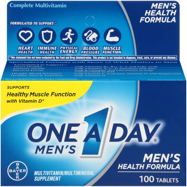 One A Day Men's Health Formula Tablets Multivitamin/Multimineral Supplement