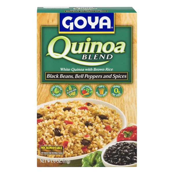 Goya Quinoa White And Brown Rice Black Beans Bell Peppers And