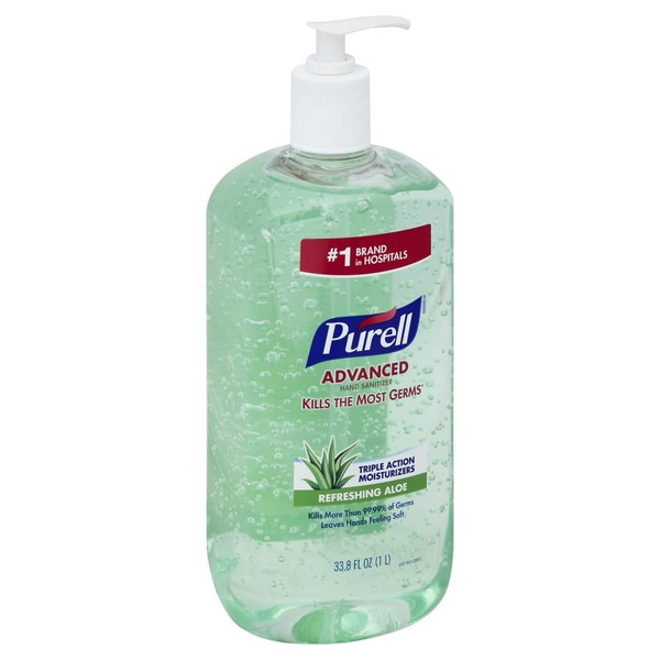Purell Hand Sanitizer Advanced Refreshing Aloe 33 8 Fl Oz