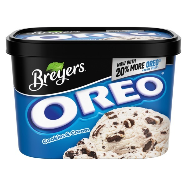 Breyers Oreo Cookies Cream Ice