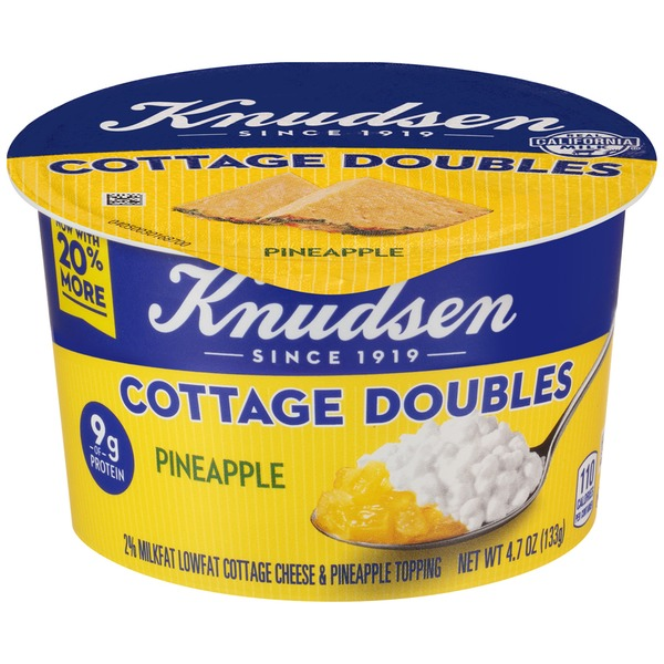 Knudsen Cottage Doubles Pineapple Cheese Topping