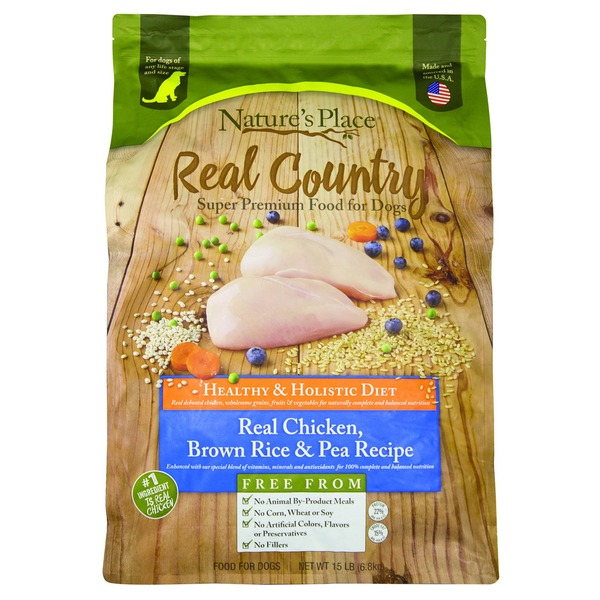 Natures place real country chicken brown rice dog food 15 lb natures place real country chicken brown rice dog food forumfinder Images
