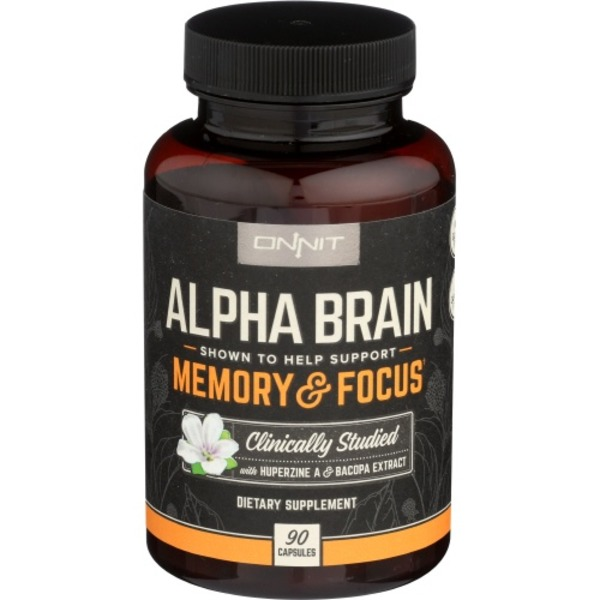 Onnit Alpha Brain Memory Focus Caplets 90 Ct From Sprouts