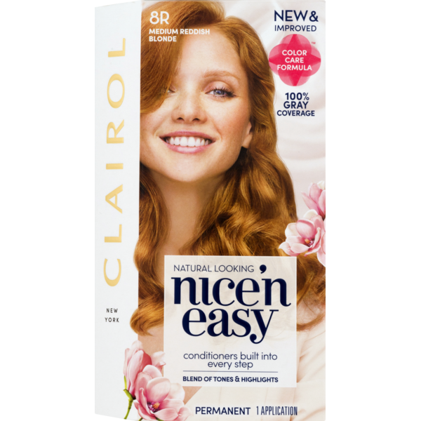 Clairol Nice N Easy Permanent Hair Color 8r Medium Reddish Blonde 1