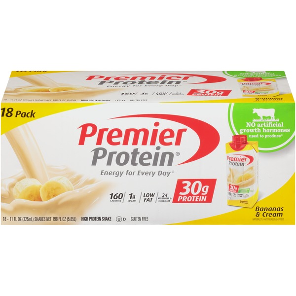 premier protein bananas & cream protein shake (11 fl oz) from costco