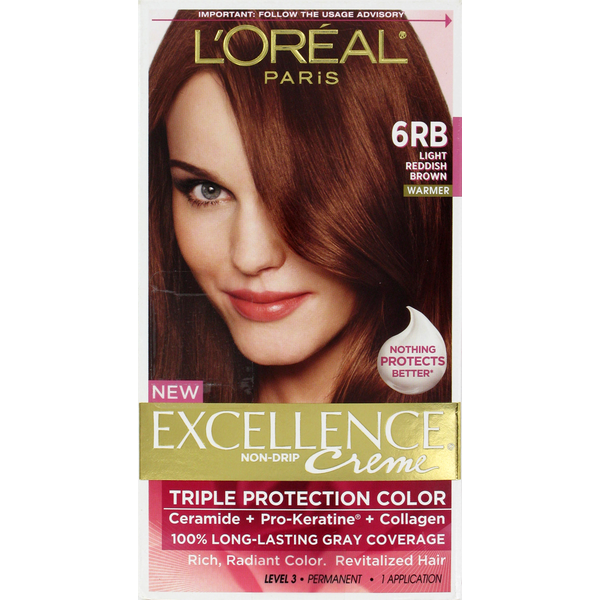Excellence Creme 6rb Light Reddish Brown Hair Color From Cvs