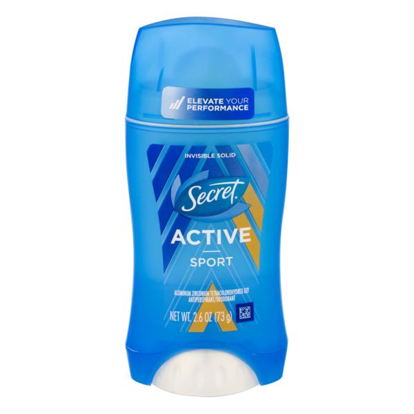 Secret Invisible Solid Antiperspirant/Deodorant Active Sport
