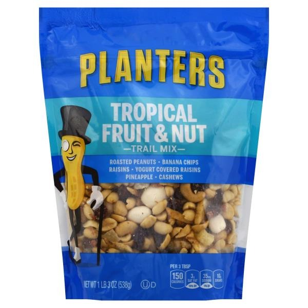 Planters Tropical Fruit & Nut Trail Mix (19 oz) from ShopRite ... on diamond nuts, frito lay nuts, target nuts, kraft nuts, sam's club nuts,