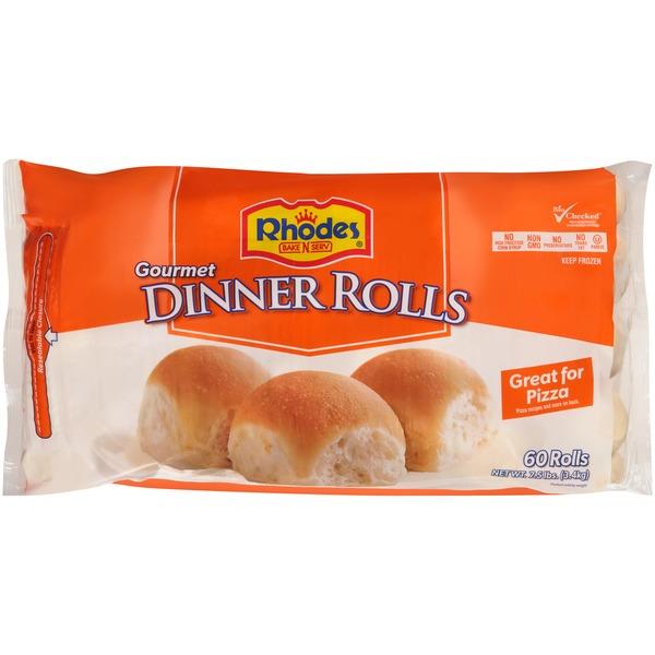 Rhodes Gourmet White Dinner Frozen Rolls Dough 7 5 Lb Instacart