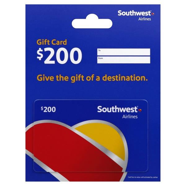 Southwest Gift Card, $200 (1 each) from Giant Food - Instacart