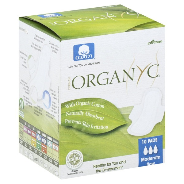 Organyc Pads, Moderate Flow (10 each) from CVS Pharmacy