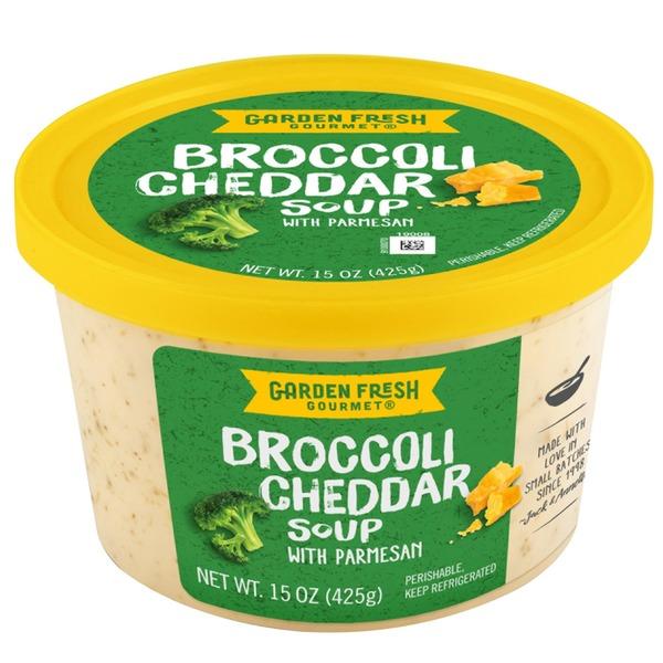 Garden Fresh Gourmet® Broccoli Cheddar Soup with Parmesan, 15oz ...